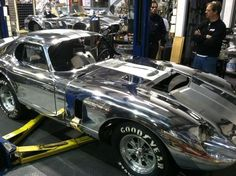 Cobra Daytona being finished, looks like a Kirkham Motorsports car, as good as they come.