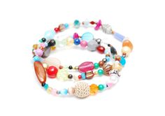 RandomJane necklace or bracelet colorful beaded hippie boho random style summer accessory made in Vienna by Aerosvar