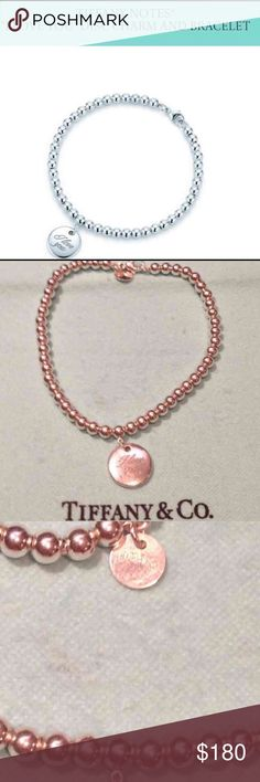 """Tiffany Tiffany Notes """"I Love You"""" Disc Charm & Bracelet  I am unsure if I want to sell this yet, love this bracelet!  Has """"L"""" in a script engraved on the back w/ my son's first name initial.  It could mean Love for you.  Great for stacking bracelets or just wear on it's own!   A chic design w/ a touch elegance & a love note all wrapped in one.  Very little wear in beautiful condition!  Tags: Women, Girl, Teenager, Couture, Fashion, present, Party, Wedding, Christmas, Valentine's Day…"""