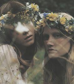floral headband bride