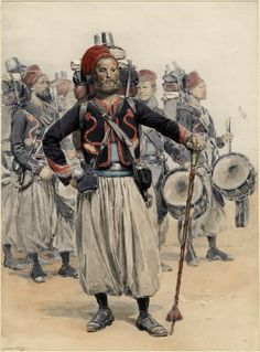 Zouave Drum Major 1886 by Detaille