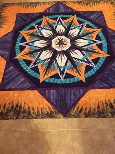 Mariner's Compass, Quiltworx.com, Made by CI Victoria Johnson.