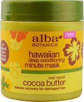 Alba Botanica® Hawaiian Deep Conditioning Minute Mask Real Repair Cocoa Butter #VitacostRoadTrip