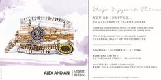 Shop, Support, Shine at a charmed by charity soiree at ALEX AND ANI on October 27th! Come sip refreshments, snack on small bites and shop with others who share your passion for giving back. 15% of all proceeds will be donated to Cerebral Palsy of Westchester to benefit children and adults with cerebral palsy and other disabilities. Please support a great cause and enjoy a night of shopping and fun!