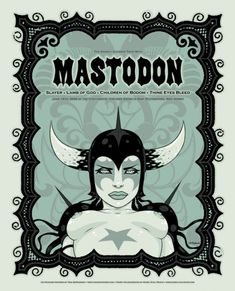 Tara McPherson | ART Posters 2006 Mastodon, Slayer, Lamb of God, Children of Bodom, Thine Eyes Bleed