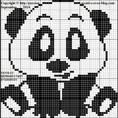 1 million+ Stunning Free Images to Use Anywhere Crochet Panda, Crochet Bear, Filet Crochet, Beaded Cross Stitch, Cross Stitch Embroidery, Modele Pixel Art, Graph Paper Art, Cross Stitch Freebies, Beading Patterns