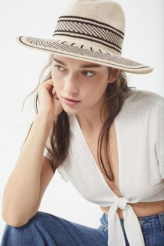 Nubby Striped Panama Hat