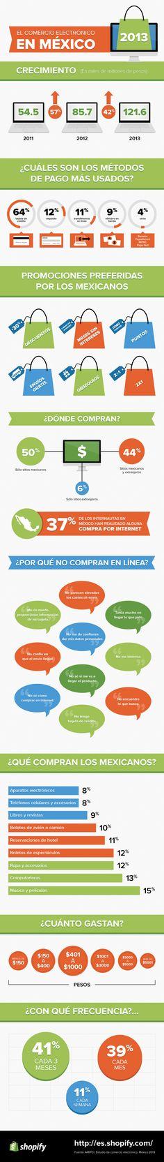 Comercio electrónico en México (2013) #infografia #infographic #ecommerce