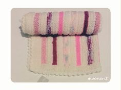 hand knitted baby blanket new born gift pinks ooak by moonerit