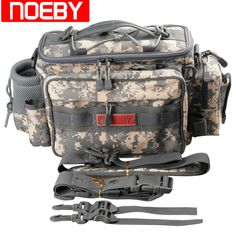 Noeby Multifunctional Fishing Bag 27.5*12*21cm Waist Bags Waterproof Backpack Crossbody Messenger Sling Sac Bolsa De Pesca Peche