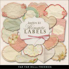 Far Far Hill: New Freebies Kit -Romantic Labels