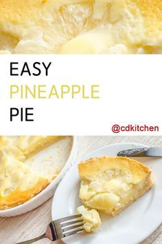 This delicious pie is not pretentious - it has no fancy ingredients or exotic cook method. It's just a tried and true recipe that makes a perfect pineapple pie, every time. Fresh Pineapple Recipes, Pineapple Desserts, Just Desserts, Delicious Desserts, Yummy Food, Puff Pastry Recipes, Sweet Pie, Pie Dessert, Baking Recipes