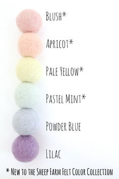 This handmade wool felt ball pom pom garland is the icing-on-the-cake for your pastel nursery, mantel, or party decor. Purchase this colorful