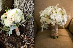 Bukiet ślubny w kolorach natury
