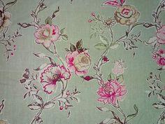 Clarke & Clarke Clarisse F0424/04 sage 100% linen curtain fabric