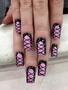 #pink #black #shoes