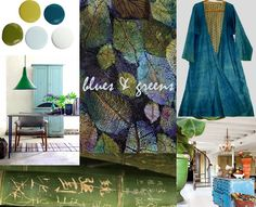 Today inspired by the shades of green grass & blue Sky!