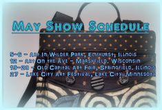 May Show Schedule Art In the Park - Elmhurst, Il. 12 - Art on the Ave - Marshfield, WI - Old Capital Art Fair - Sprin. Art In The Park, Tapestry Fabric, City Art, Lake City, Art Fair, Daughters, Illinois, Wisconsin, Schedule