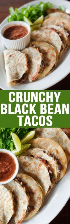Crunchy Black Bean Tacos supper dinner main course entree snack lunch party food