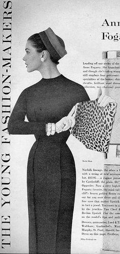Anne Fogarty's very tight narrow dress