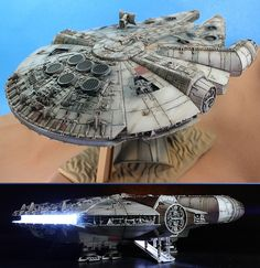 Bandai x Star Wars The Force Awakens: KOMA-P's 1/144 MILLENNIUM FALCON. MANY Big…