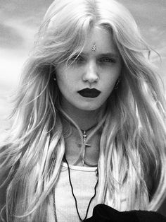 ☆ Rock 'n' Roll Style ☆  Abbey Lee Kershaw at the shoot with Our Mountain by Sam Hessamian.