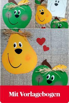 Im Spätsommer sind sie wieder überall an den Bäumen in den Gärten zu sehen. Saftig grüne Äpfel und goldgelbe Birnen in Hülle und Fülle. Laden wir uns doch einfach diese süßen Früchte an unsere Fenster ein, indem wir sie aus buntem Papier Nachbasteln. Hydrangea Shrub, Hydrangea Care, Plant Species, Engagement Ring Cuts, Autumn Activities, Flourish, Twinkle Twinkle, Paper Cutting, Diy For Kids