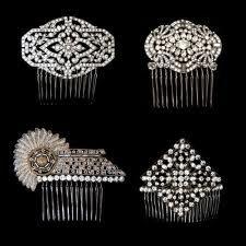 Some very beautiful original antique 1920's Art Deco hair combs