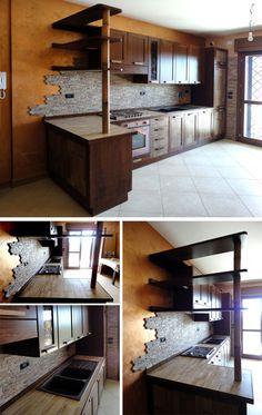 Cucina in muratura Realizzata su misura da: Falegnameriedesign.it ...