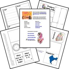 Free India Country Lapbook from Homeschool Share Geography Lessons, World Geography, Continents And Countries, Around The World Theme, India Country, India School, World Thinking Day, My Father's World, Cultural Studies