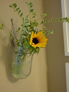 The World's Easiest Hanging Vase - 17 Awesome DIY Ideas with Jars and Cans for Home Decor