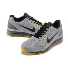 buy popular 60b35 f20bd Air Max Homme 2013 Gris Noir Jaune M21055 - €64.73   Chaussures Nike Air Max