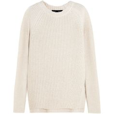 Proenza Schouler Cotton, cashmere and wool-blend sweater ($305) ❤ liked on Polyvore featuring tops, sweaters, proenza schouler, jumper, white, cashmere sweater, ribbed sweater, white jumper, white ribbed sweater and white top