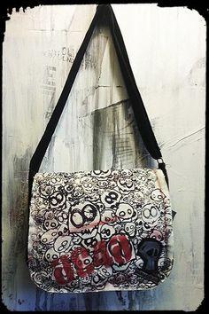 """Monster"" Messenger Bag #goth @PlaydeadCult"