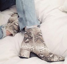 snakeskin boots by Zara