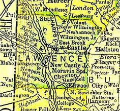 Lawrence County PA Historical Maps | LAWRENCE COUNTY PENNSYLVANIA 1895