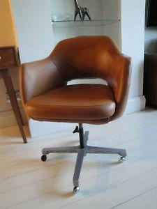 Brown vintage office chair