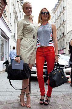 Virginie et Claire Courtin #Clarins au défilé @Roberto Aléjandro #PFW #streetstyle