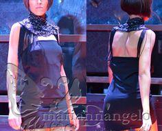 styliste en herbe Marianna D'Angelo Lab Creations .ethnic dark short dress .afro necklace handmade