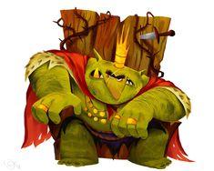 The goblin King Goblin King, Fantasy World, Dark Fantasy, Fantasy Art, Character Design Animation, Character Design References, Monster Illustration, Illustration Art, Goblin