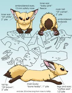 Realistic Fennec Plush Concept Design For Fox