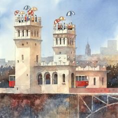 Artist Tytus Brzozowski Towers of Poland Lumarte Art Online