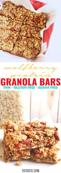 Ideas For Breakfast Cookies Healthy Protein Granola Bars Breakfast Bars, Breakfast Cookies, Best Breakfast, Cookies Healthy, Healthy Protein Snacks, Keto Granola, Granola Bars, Low Glycemic Fruits, Low Carb Protein Bars