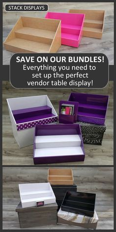 Stack Displays™ sells custom Printed Table Covers, Cardboard Product Displays, Vendor Table Sign Holders for Craft Shows, Vendor Events and Trade Shows. Vendor Table, Vendor Booth, Craft Show Table, Craft Tables, Craft Show Displays, Display Ideas, Coffee Chalkboard, Counter Display, Vendor Events