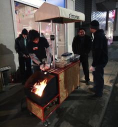 s'mores food cart
