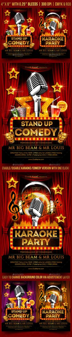 Comedy Night Flyer Comedy nights, Flyer template and Event banner - comedy show flyer template