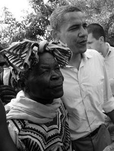 President Barack Obama & his grandmother, Sarah
