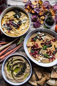 The Big Holiday Hummus Board with Roasted Root Veggie Chips - beautiful Carne Asada, Roasted Root Vegetables, Veggies, Tapas, Healthy Holiday Recipes, Fall Recipes, Dinner Recipes, Veggie Chips, Chips Recipe