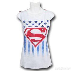 Superman Women's Open Back Tank Top
