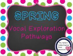 These super cute spring vocal exploration pathways will help your students warm up  and get them using their head voices! Includes 10 pathway slides, 10 slides with no line drawn (have the students draw their own!), and 3 worksheets. 28% off Thursday and Friday with the code TPT3.